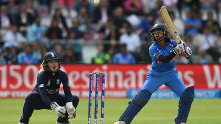 Punam Raut went past her half century as India inched closer.