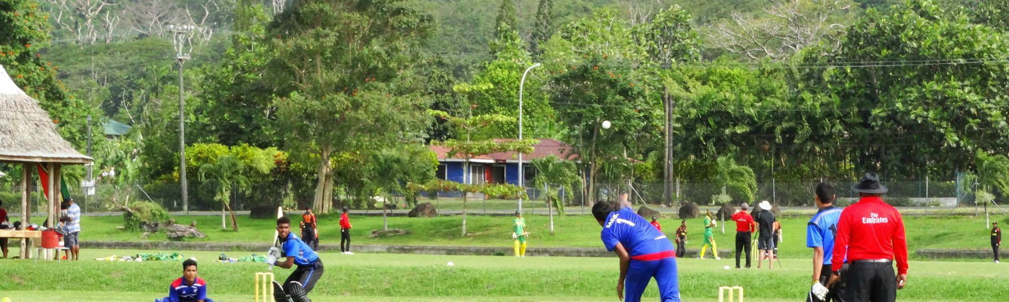 Samoa captain Solofuti Falo bowled his team to victory.