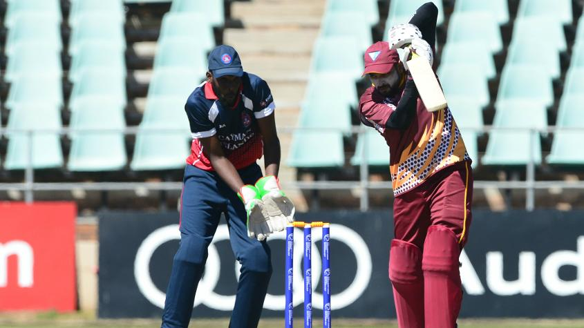 Qatar scored an impressive 343 for seven from its 50 overs thanks to big scores from Khurram Shahzad (94) and Dharmang Patel (93) to set up an imposing total.