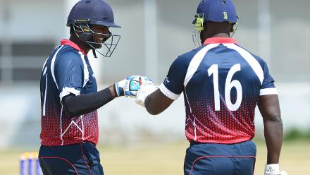Sacha De Alwis and Ryan Bovell of the Cayman Islands.