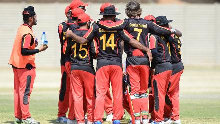 Germany during day 4 of the 2017 ICC World Cricket League Division 5 match between Germany and Cayman Islands.