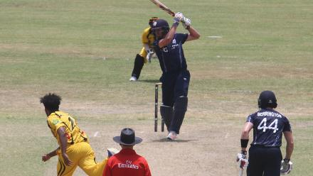 Scotland batting as they take full points in the ICC WCLC fixture.