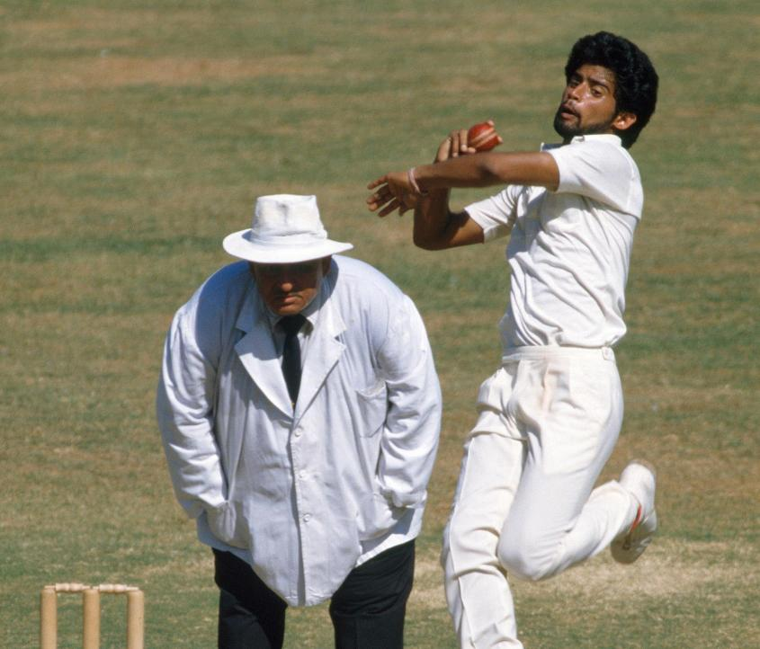 Chetan Sharma took the first-ever Cricket World Cup hat-trick in India's 1987 match against New Zealand