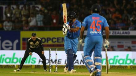 In response, India struggled, losing both openers early.
