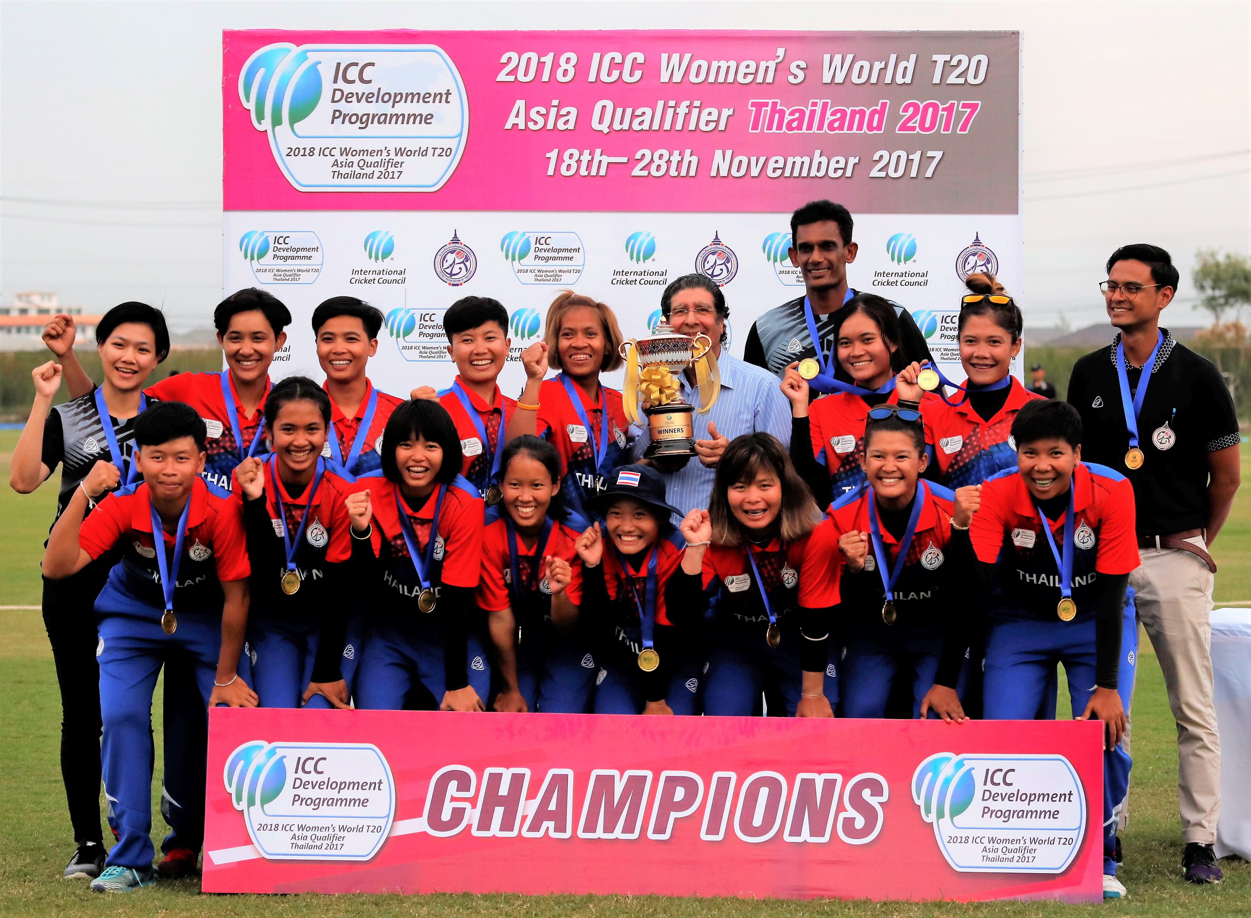Thailand Women See Off Uae To Win Icc Asia Qualifier