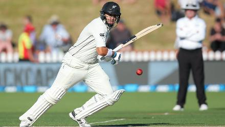 Ross Taylor helped the home team stay calm and remained unbeaten on 12 at stumps.