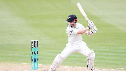Kane Williamson made a quick 54 off 64 balls before being dismissed by Miguel Cummins