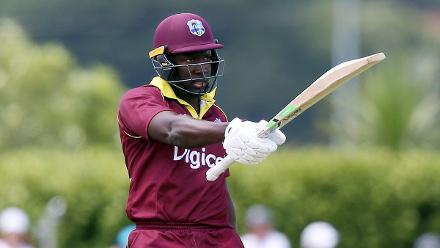 Rovman Powell staged a stirring rearguard action to score 59 off 50 balls.