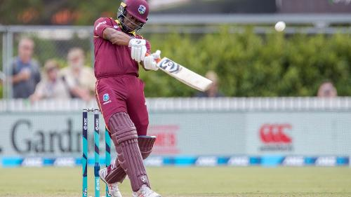 Evin Lewis scored a classy 76 to keep his side afloat.