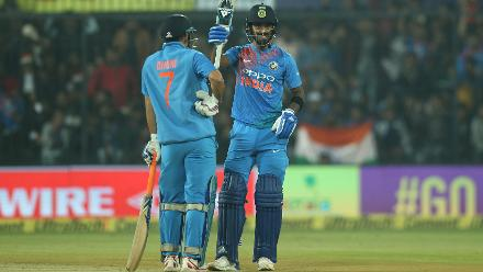 KL Rahul's half-century came in 35 balls as his acceleration after Rohit's dismissal helped India record their highest ever T20I total of 260 for 5.