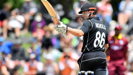 Nicholls's 83 came off 62 balls and included two sixes and seven fours.