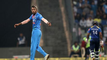 Hardik Pandya took two wickets to clean up the lower order.