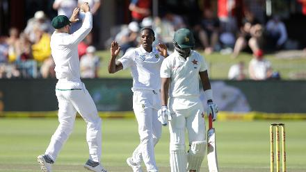 Kagiso Rabada's services were barely required as he and Vernon Philander picked up a wicket each.