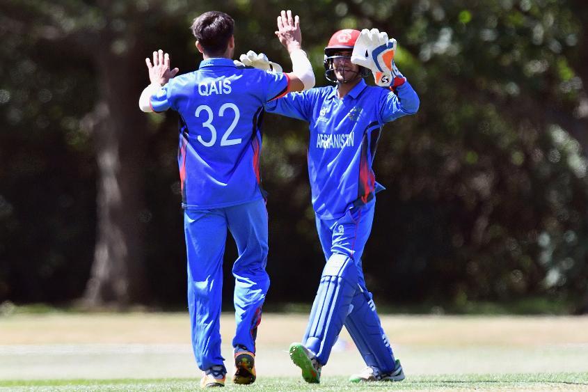 Qais Ahmed celebrates the key wicket of Pinak Ghosh