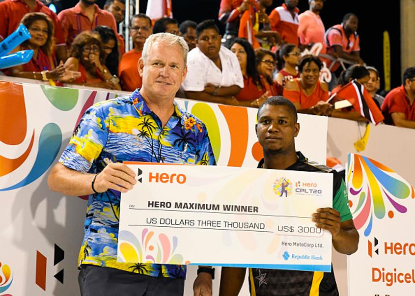 Tom Moody (left) with Windies cricketer Ewin Lewis