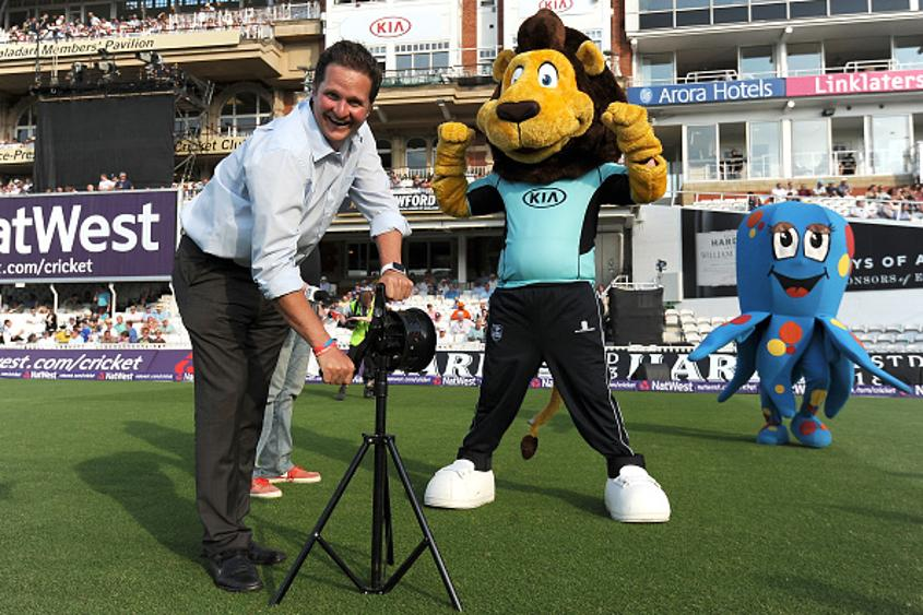 Rob Key (left) at the Oval in London