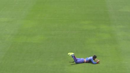 U19CWC POTD - Super running catch from Afghanistan's Nisar Wahdat