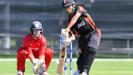 Papua New Guinea batted first and made 95 from their 20 overs