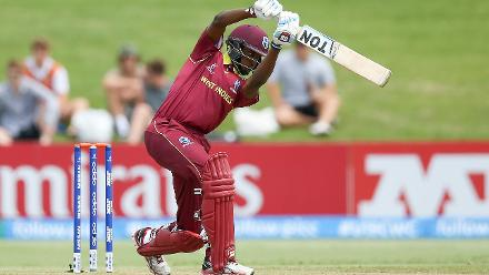 Keagan Simmons scored an unbeaten 92 for Windies