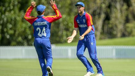 Namibia took four Bangladesh wickets, but could only restrict them to 190