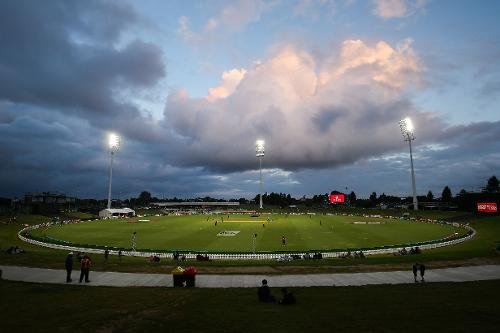 There was a minor rain-delay at Tauranga, but it did not hinder the hosts