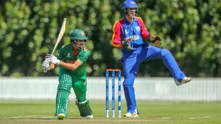 Mohammad Naim scored 60 from 43 deliveries for Bangladesh
