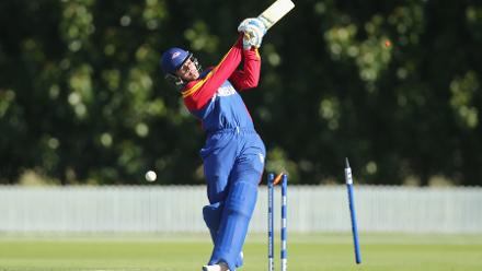 Eben van Wyk made 55 for Namibia but they fell 87 runs short of Bangladesh's total