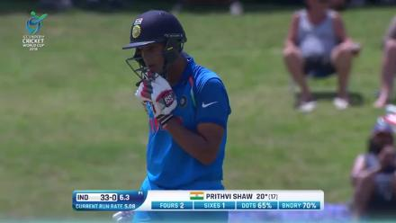 Prithvi Shaw goes over the top!