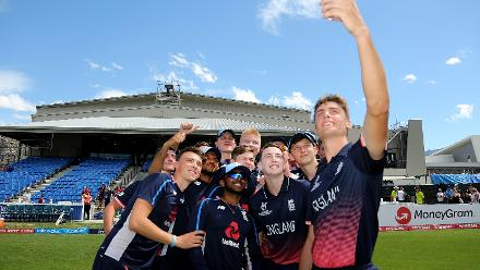 Highlights from England's triumph over Namibia U19s