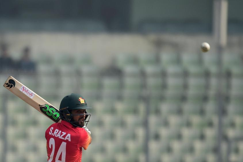 Sikandar Raza was Zimbabwe's stand-out player with bat and ball in game 1