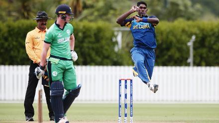 Jehan Daniel of Sri Lanka bowls