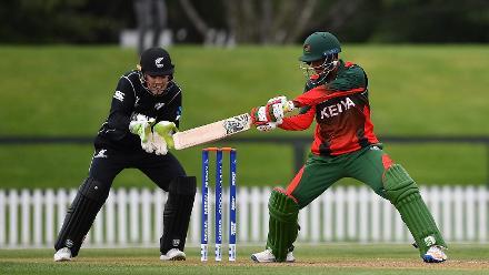 Sukhdeep Singh hits a cut shot