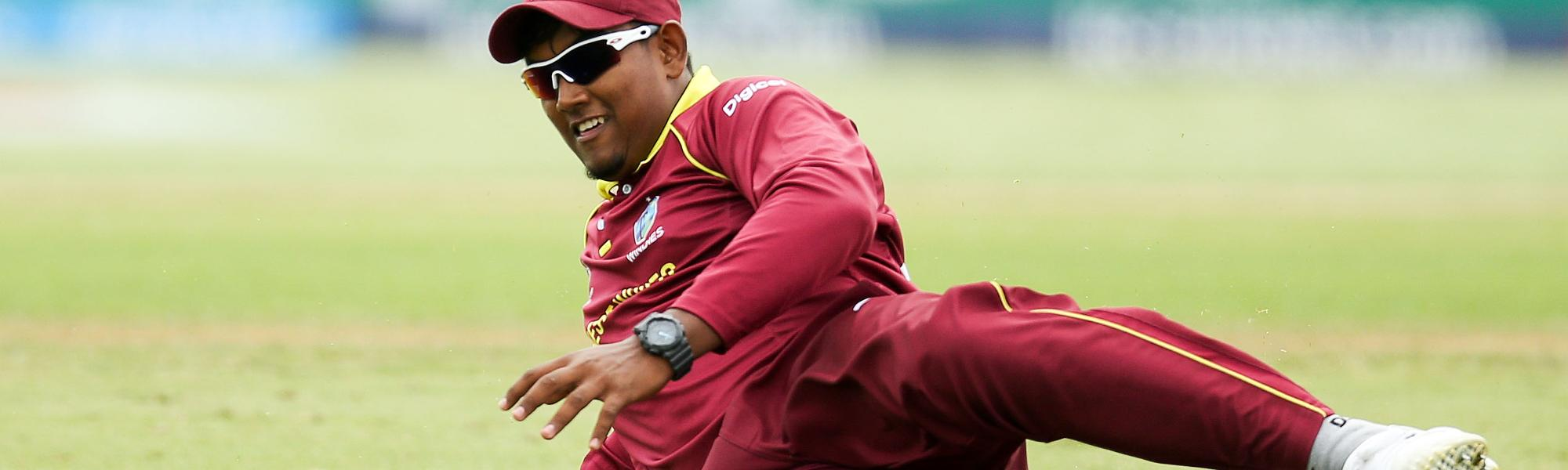 Bhaskar Yadram of the West Indies fields