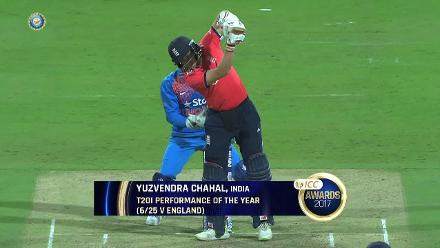 Yuzvendra Chahal's effort against England was named ICC T20I Performance of the Year