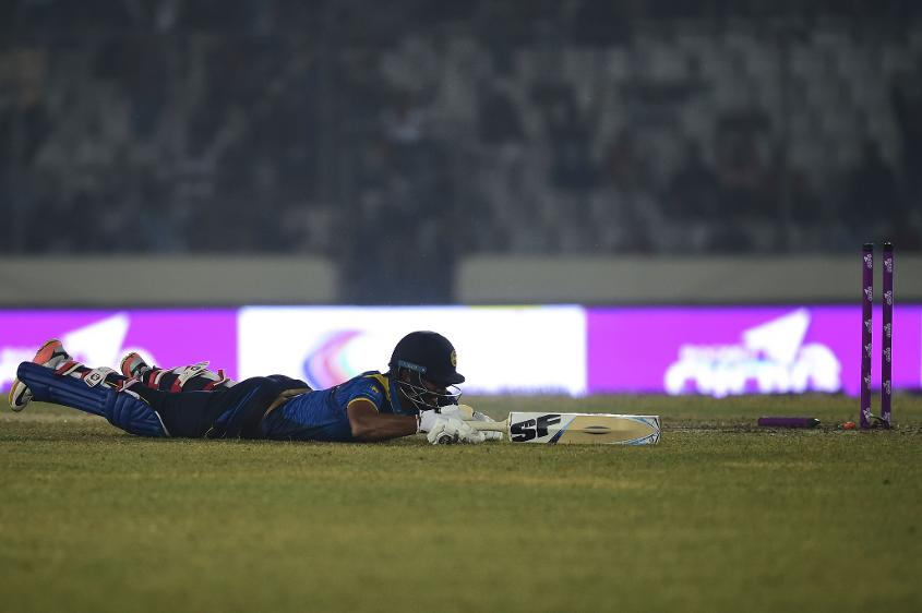 Chandimal was run out for 28