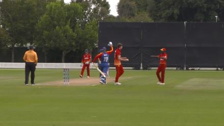 Namibia's captain Louwrens c&b for 16