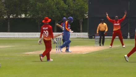 The final wickets as Namibia U19s fall for 113