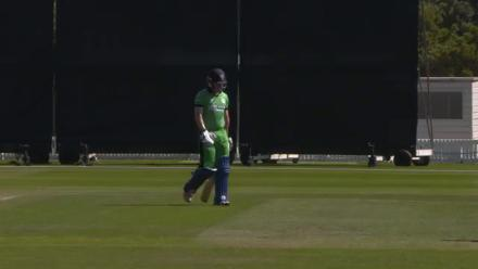 Irish opener Grassi caught and bowled by Nyeem Young
