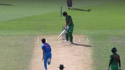 U19CWC POTD - Nagarkoti's ball to take India to the semis