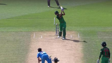 Nayeem is bowled by Nagarkoti to end it