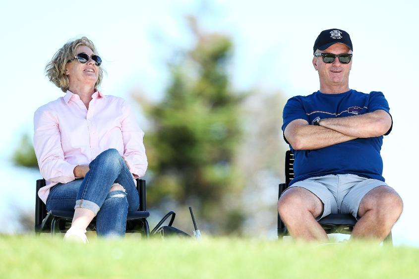 Lynette and Steve Waugh in attendance to watch their son, Austin.