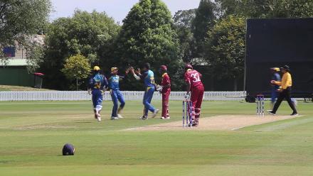 Keagan Simmons downed by Sri Lanka's Malinga for 24