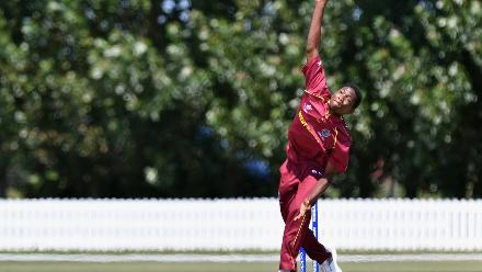 Jarion Hoyte of the West Indies