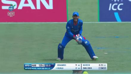 How Australia lost their wickets against Afghanistan at U19CWC