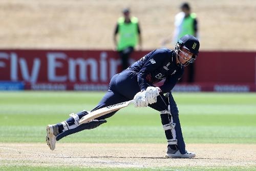Tom Banton of England sweeps