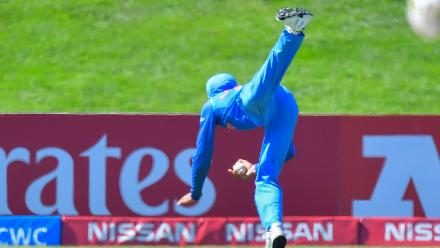 U19CWC POTD - Gill's tumbling over-the-shoulder catch