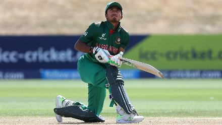 Afif Hossain Dhrubo of Bangladesh batting