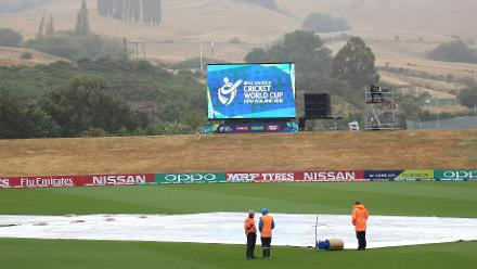 The rain sets in ahead of the ICC U19 Cricket World Cup match between Afghanistan and Pakistan