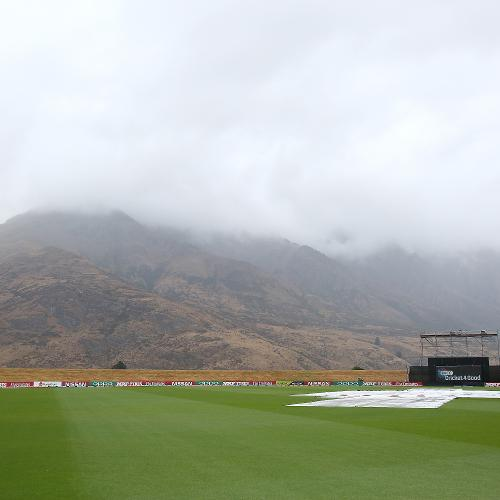 The weather meant the match was abandoned at the Jon Davies Oval
