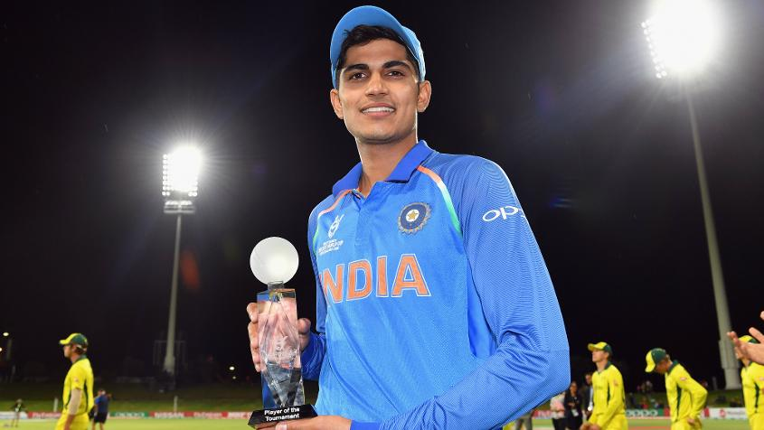 Shubman Gill was named the Player of the Tournament for his tally of 372 runs.